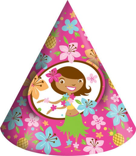 Pink Luau Fun Child Party Hats