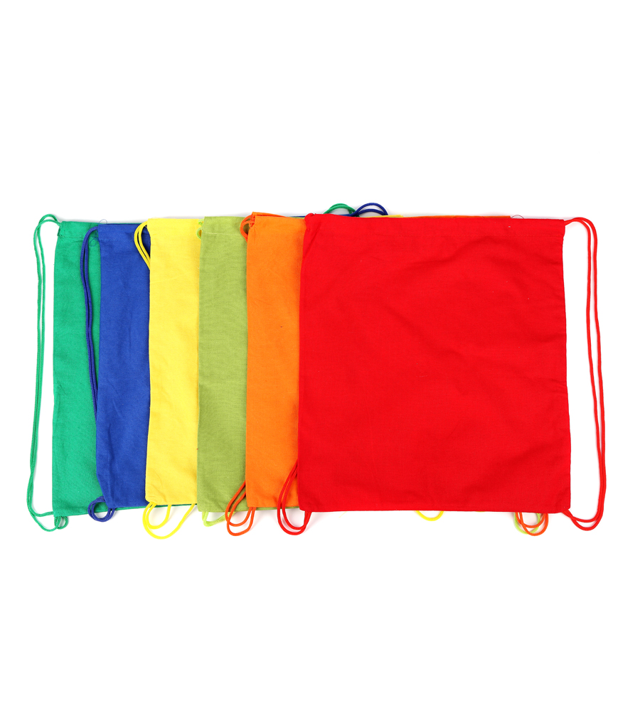14.75 Inch Drawstring Backpacks Assorted - 12ct