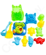 Fun Central AY958 15-Pcs  Beach Sand Toys Set Zippered Bag Castle Bucket