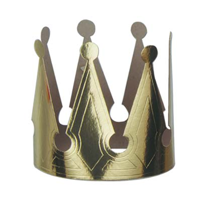 Gold Foil King's Crown 6.5in
