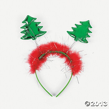 Plastic Christmas Tree Head Boppers