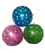 Inflatable Polka-Dot Beach Balls - 15 Pack
