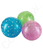 9 Inch Inflatable Polka-Dot Beach Balls - 15 Pack