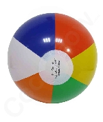 Inflatable Rainbow Color Beach Balls- 15 Pack