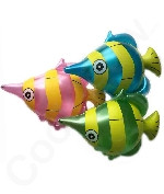 Inflatable 14 inch Tropical Fish Toy - 12 Pack