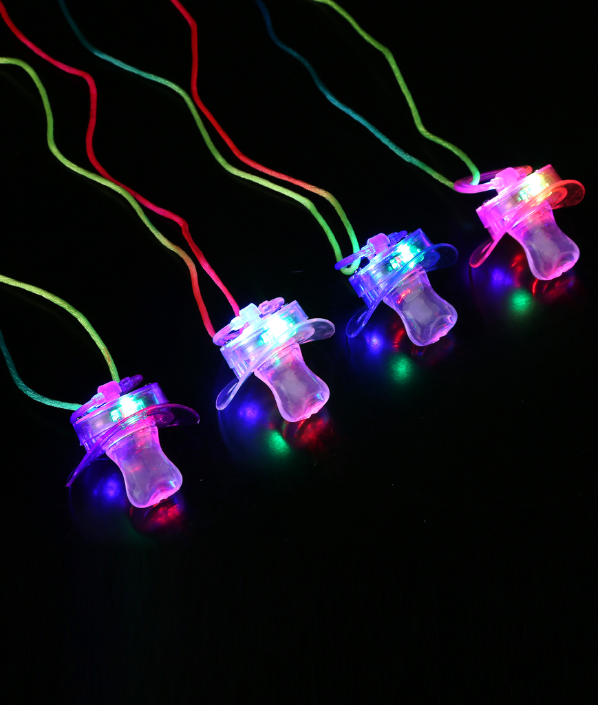 Fun Central AC635 LED Light Up Novelty Pacifiers - Soft Style