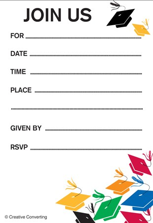 Graduation Toss Invitation Insert Cards