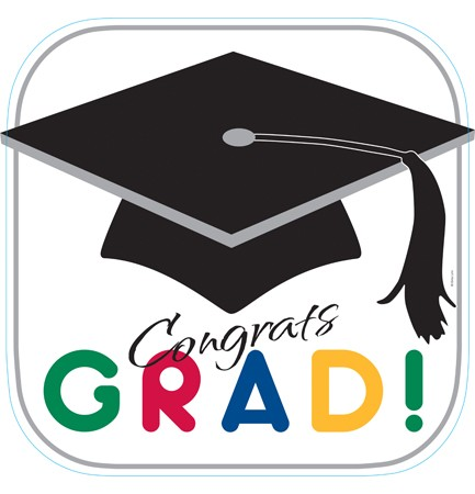 Graduation Stripes Cutout