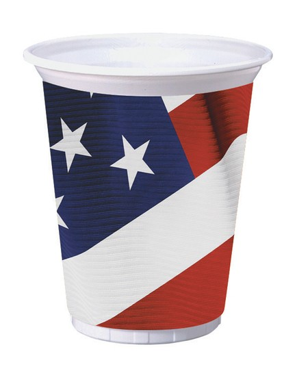 American Valor 16 oz. Printed Plastic Cups