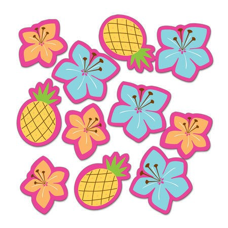 Pink Luau Fun Table Scatter