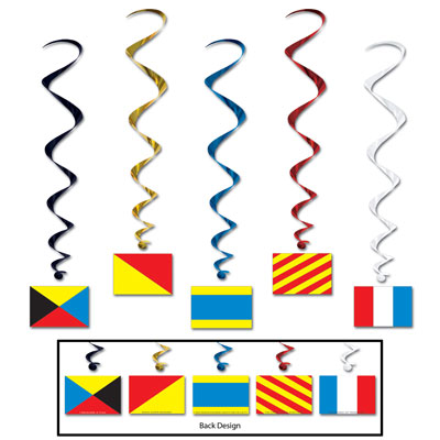 Nautical Flag Whirls- 5ct