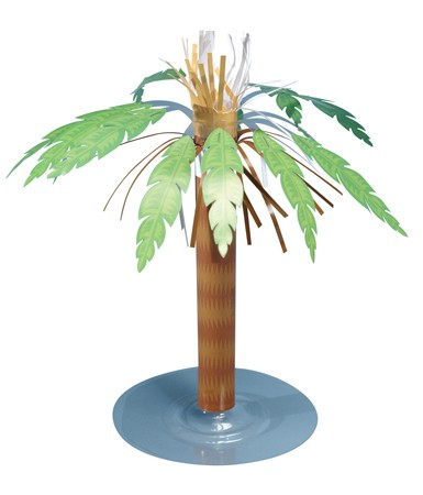 Paper Palm Tree Centerpiece- 8in