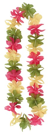 Pink Yellow & Green Mix 36 Lei Necklace