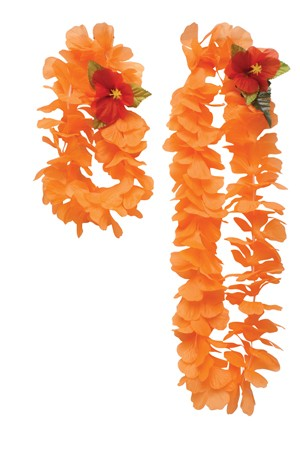 Orange Lei and Headband