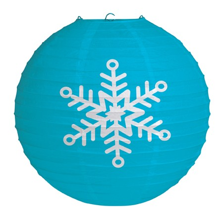 Oranment 12 inch round printed snowflake