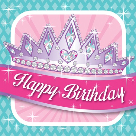 Princess Party Happy Birthday Luncheon Napkins