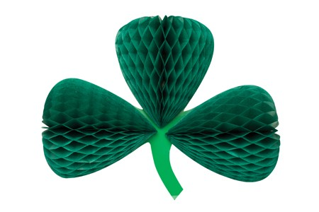 Shamrock 12in Hanging Shaped Honeycomb Dcor
