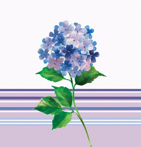 Hydrangea Stripe 54 x 108in Plastic Tablecover