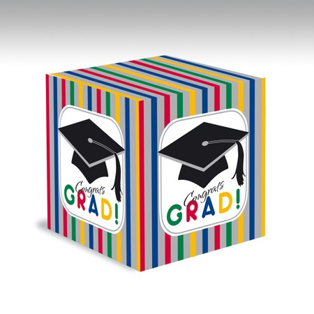 Graduation Stripes Card Box