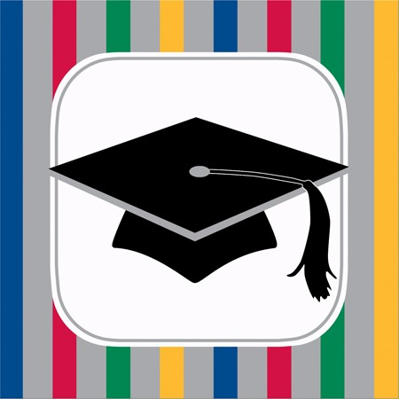 Graduation Stripes 3-Ply Beverage Napkins