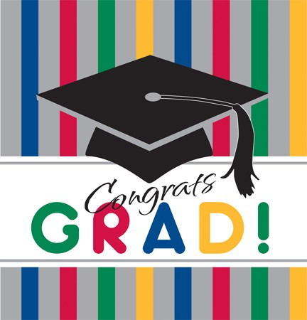 Graduation Stripes Plastic 54x108 Tablecover