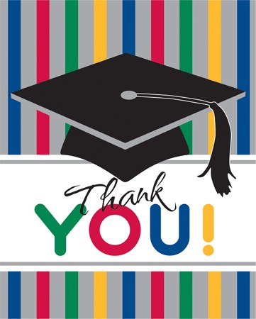 Graduation Stripes Thank You's
