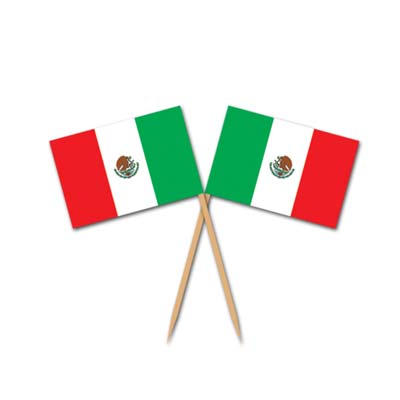 Mexican Flag Picks 2.5in 50ct