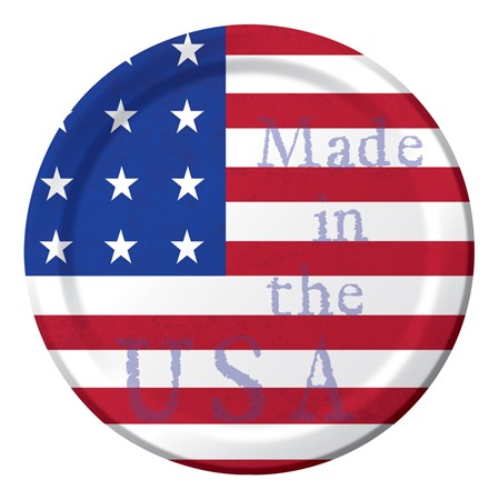 Made In The USA 7 Lunch Plates