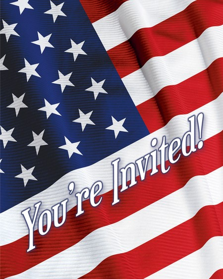 American Valor Invitations