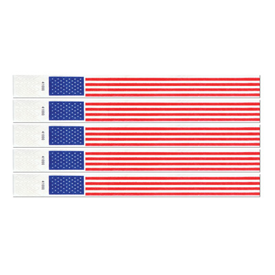 Patriotic Tyvek Wristbands - 100ct