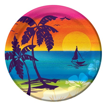 Aloha Summer 7 Inch Lunch Plates
