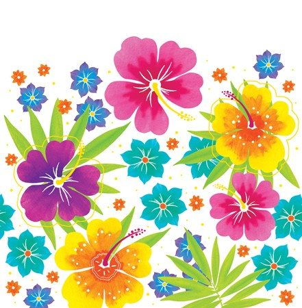 Floral Delight Plastic 54x108 Tablecover