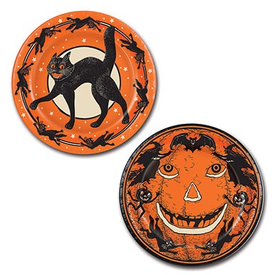 Vintage Halloween Plates 9 Inches
