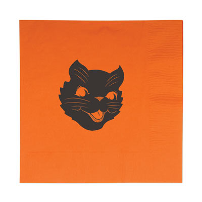Vintage Halloween Cat Luncheon Napkins 2-Ply