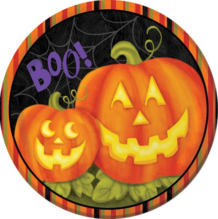 Jolly Jack O Lanterns 9 in Dinner Plates