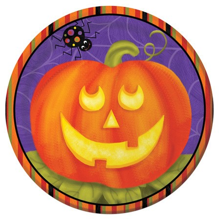 Jolly Jack O Lanterns 7 in Lunch Plates