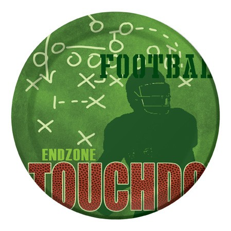 End Zone Party 9in Dinner Plates