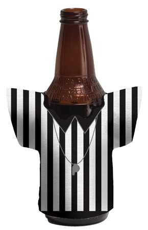 Referee Jersey Shaped Koozie