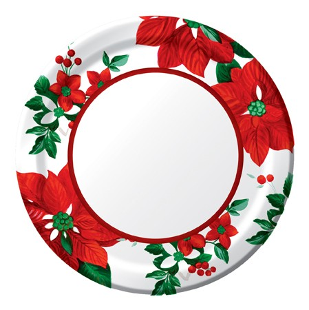 Holiday Floral 9in Dinner Plates