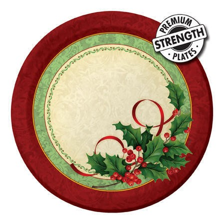 Holly Traditions 9in Dinner Plates