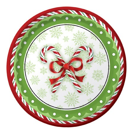 Candy Cane Bliss 9in Dinner Plates