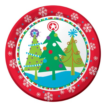 North Pole Greetings 9in Dinner Plates