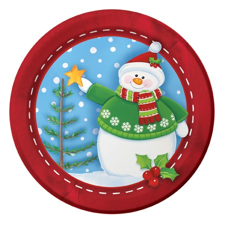 Snowman Buddies 9in Dinner Plates