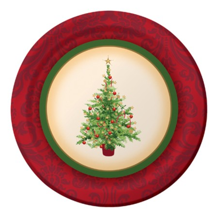 Holiday Spruce 7in Sturdy Style Luncheon Plates