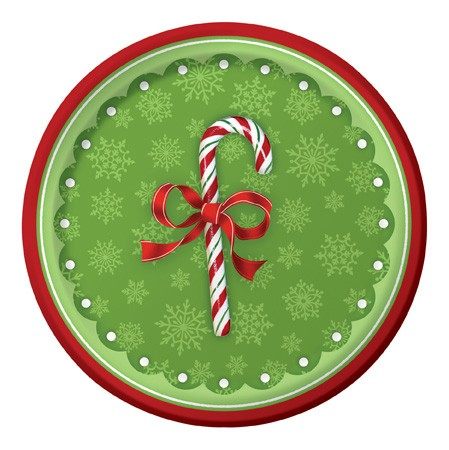 Candy Cane Bliss Mid-Count 7in Lunch Plates