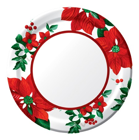 Holiday Floral 7in Lunch Plates
