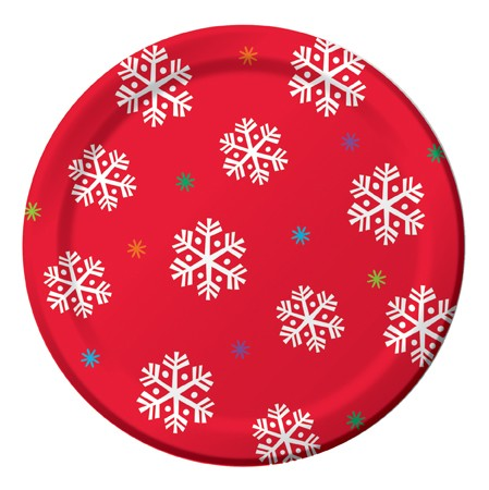 North Pole Greetings 7in Lunch Plates