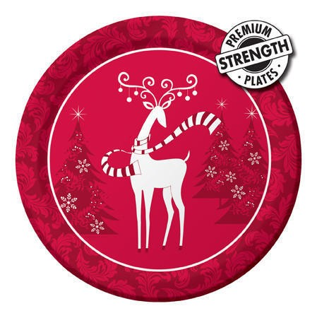 Dashing Prancer 10.25in Banquet Plates