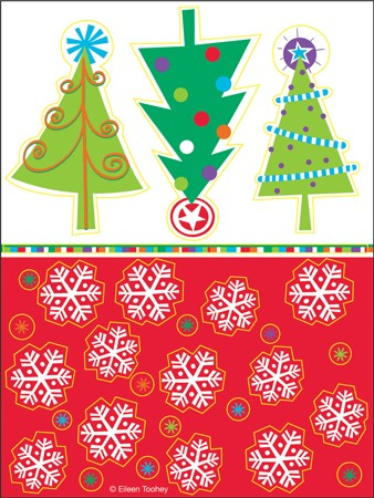 North Pole Greetings Value Stickers