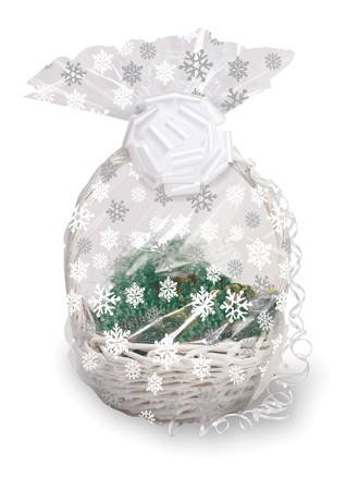 Snowflake Large Basket Cello Bag